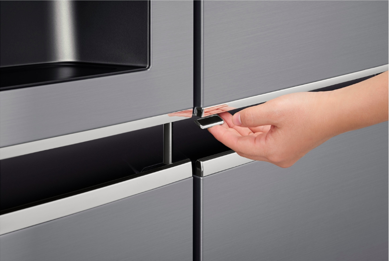 LG GC-J247SLUV APZQESA 601L Platinum Silver Side by Side Refrigerator,  Door-In-Door™ (Plumbed)